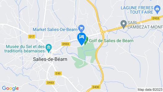 Les Cottages du Saleys Map