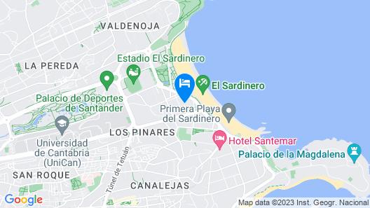 Hotel Boutique Las Brisas Map
