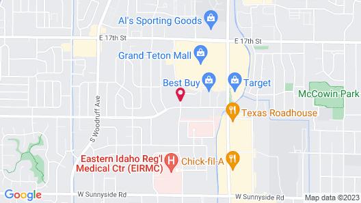 Hampton Inn Idaho Falls At the Mall Map
