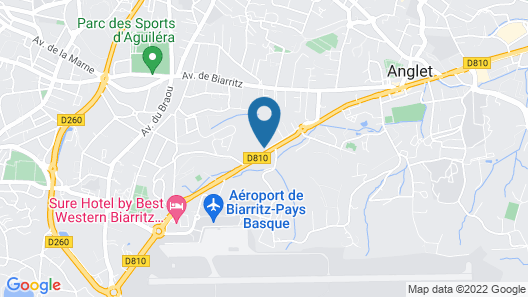 Novotel Resort & Spa Biarritz Anglet Map