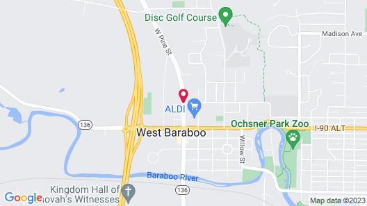 Best Western Baraboo Inn Map