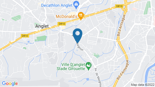 Hotel Residence Anglet Biarritz - Parme Map