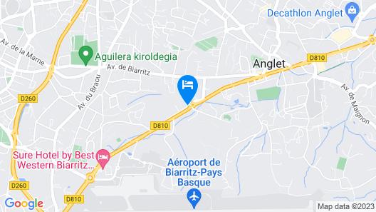 ibis Biarritz Anglet Aeroport Map
