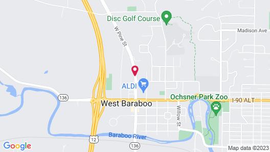 Campus Inn Motel Map
