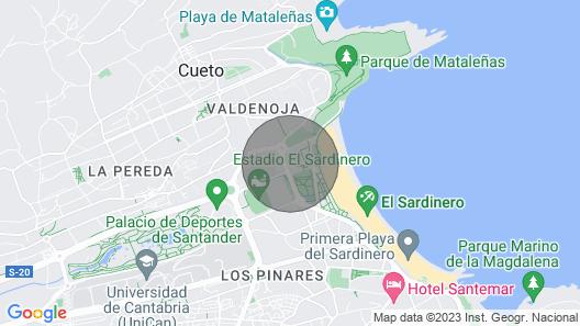 Apartment Sardinero Feygon Map