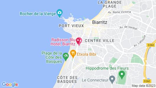 Radisson Blu Hotel, Biarritz Map