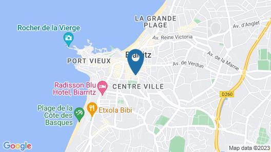 Guerin Locations Biarritz Map