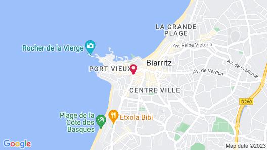 Hôtel Anjou Map