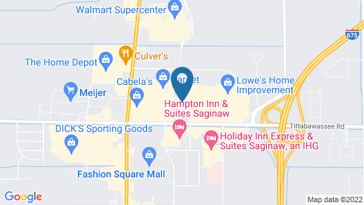 Comfort Suites Saginaw Map