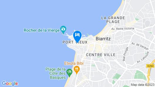 Hotel les Alizés Map
