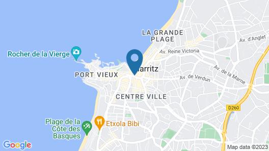 MERCURE PRESIDENT BIARRITZ PLAGE Map