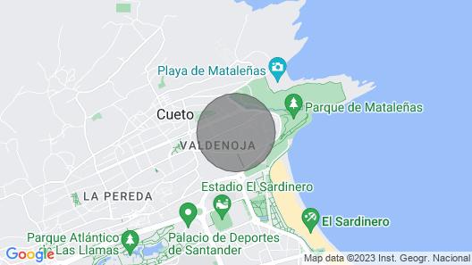 Playas, Golf, Tenis, Gastronomía, Casino, Costa, Jardines en Valdenoja Sardinero Map
