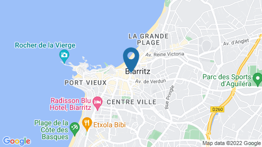Mercure Biarritz Centre Plaza Map