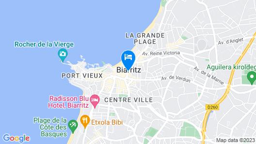 Mercure Biarritz Centre Plaza Map