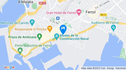 Hostal La Frontera Map