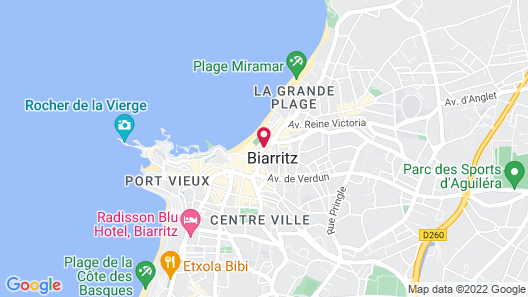 Hotel le Windsor Grande Plage Biarritz Map