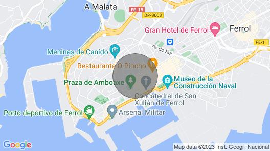 Apartamento Completamente Equipado en el Centro de Ferrol Map