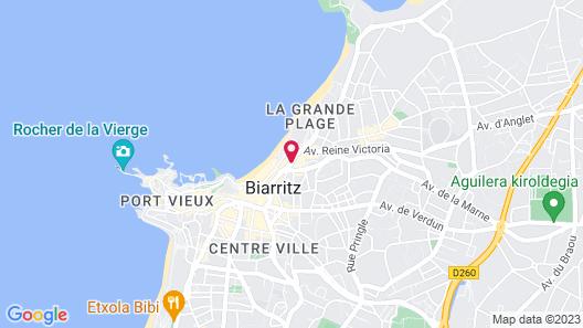 Grand Tonic Hotel Biarritz Map