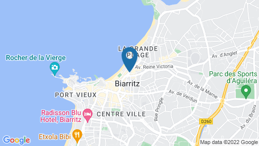 Grand Tonic Hotel Biarritz Map
