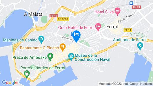 Hotel Carrís Almirante Map
