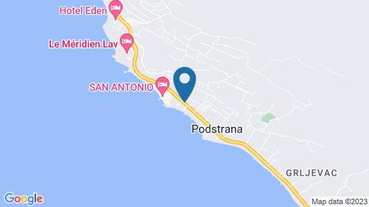 Beachfront Villa Mediteran Map