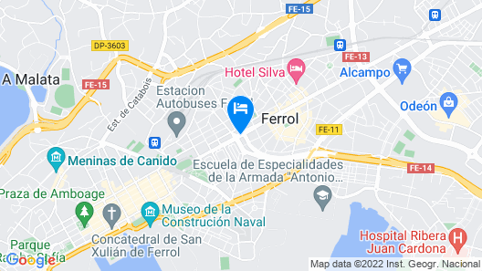 Gran Hotel de Ferrol Map