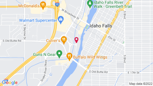 SpringHill Suites by Marriott Idaho Falls Map