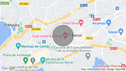 Fully Equipped Apartment in Ferrol Map