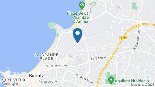 Cocon à St Charles entre golf et océan Map