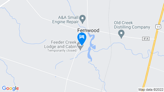 Feeder Creek Lodge and Cabin Map