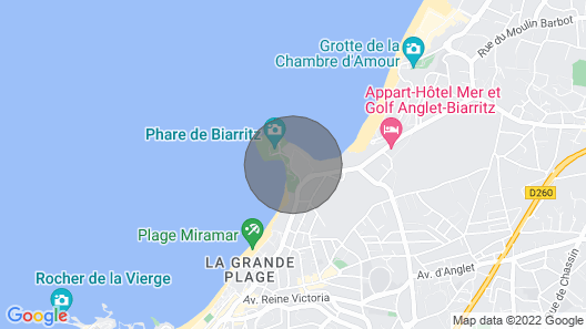 Biarritz / Lighthouse / by the Ocean / Appart. of Standing Map