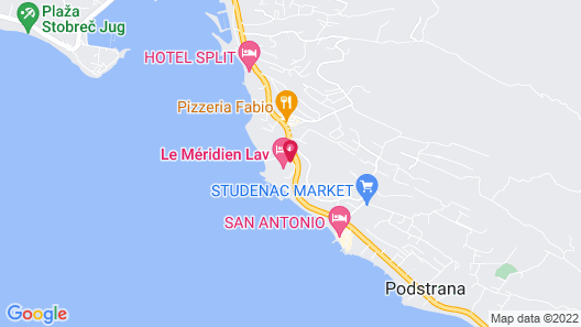 Le Meridien Lav, Split Map