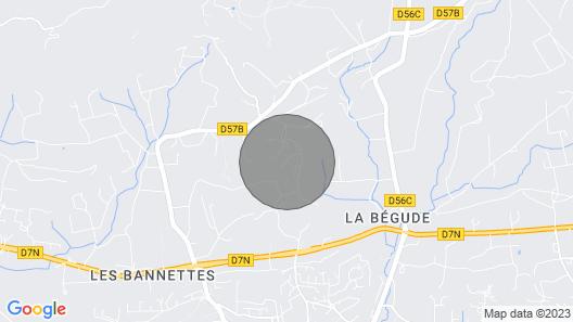 Provencal House Near Aix en Provence Map