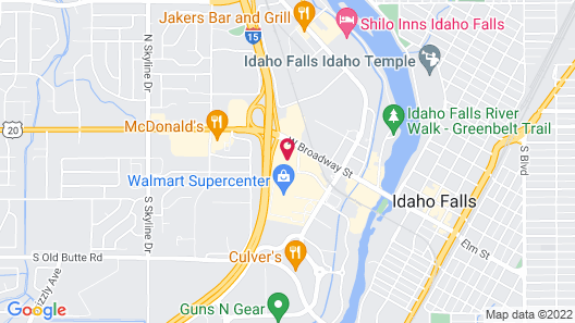 Fairfield Inn and Suites by Marriott Idaho Falls Map
