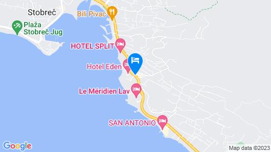 Beach Apartments Lavica Map