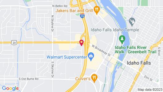 Comfort Inn Idaho Falls Map