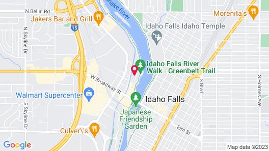 Quality Inn & Suites Idaho Falls Map