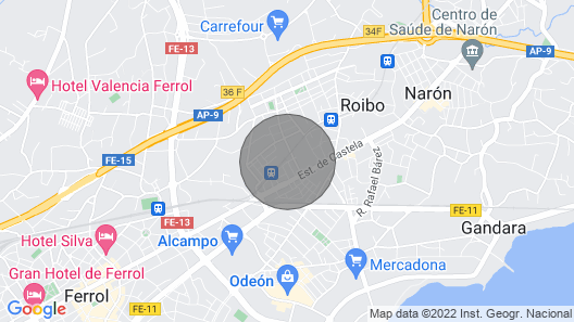 great apartment in Naron  Map
