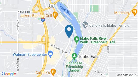 Hampton Inn Idaho Falls Map