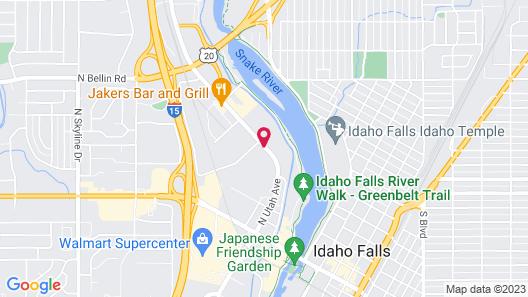 Super 8 by Wyndham Idaho Falls Map