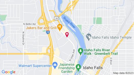 Shilo Inn Suites Hotel - Idaho Falls Map