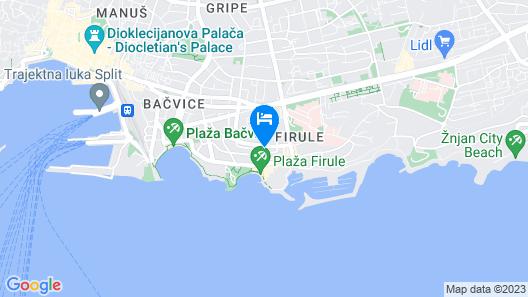APARTMENTS ZUVELA Map