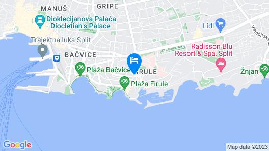 Beach House Split Map