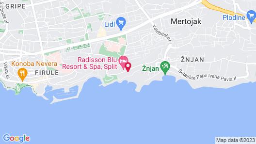 Radisson Blu Resort & Spa, Split Map