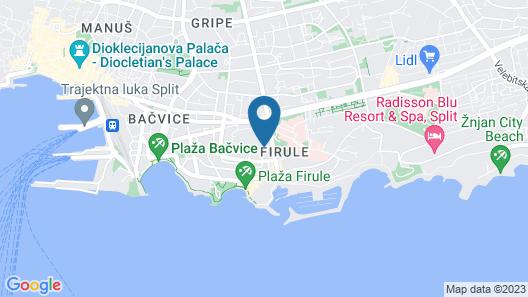 Boban Luxury Suites Map