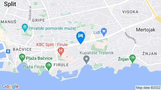 Absolutely new Luxury Apartment With a sea View Map