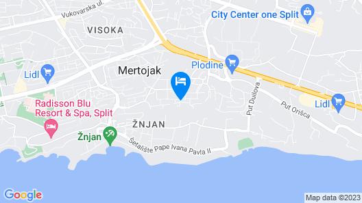 Villa Split Map