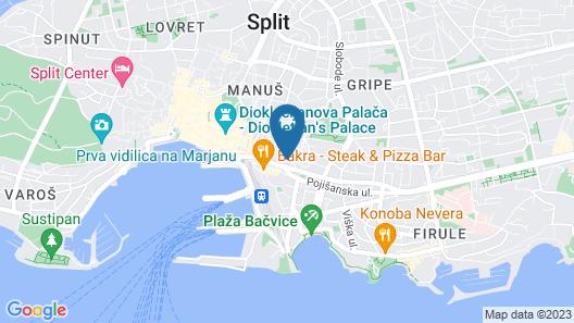 Split Oasis Apartments Map