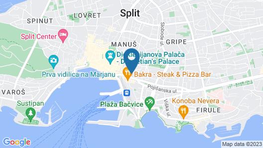 Split Allure Apartments Map