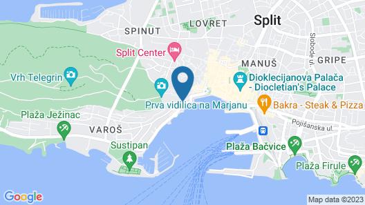 Studio Apartments sv. Duje Map